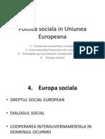 Politica Sociala in Uniunea Europeana (II)