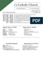 Bulletin for June 8, 2014
