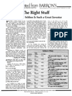 The Right Stuff - Why Walter Schloss is Such a Great Investor