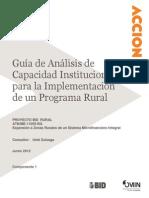 Guía Capacidad Institucional Programa Rural