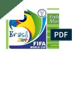 Fixture Mundial Brasil 2014