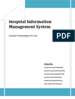 Hospital Information Management System - Cover Page