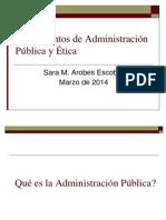 Fundamentos de La Administración Pública y Etica