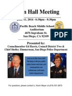 SDPD/District 2 Town Hall Meeting on June 11, 2014