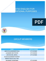 Ub00702 English for Occupational Purposes