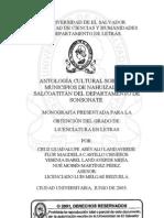 Antología cultural sobre los municipios de Nahizalco y Salcoatitán del departamento de Sonsonate