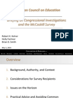 Ace Briefing on Mccaskill Survey
