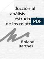 BARTHES ROLAND - Introduccion Al Analisis Estructural de Los Relatos Copy