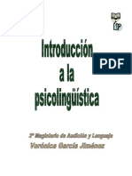 Introduccion a La Psicolinguistica