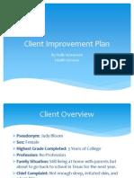 client improvement plan