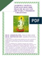 Milagrosa Vigília Relâmpago Dos 1000 Mantras de Kuan Yin