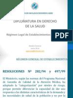 Regimen de Establecimientos JUNIO 2014 Natalia Garozzo