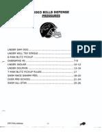 2003 Buffalo Bills Regular Pressure Package