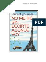 Gounelle Laurent - No Me Ire Sin Decirte Adonde Voy
