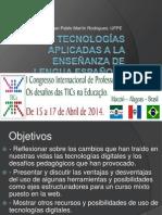 Nuevas Tecnologías Aplicadas a La Enseñanza de LenguaCongresoInternacionalAlagoas