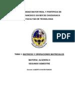 TEMA 1 Matrices y Operaciones Matriciales Eaula
