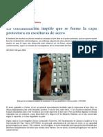 Contaminacion en Esculturas de Acero
