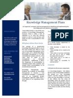 Knowledge Management Plans