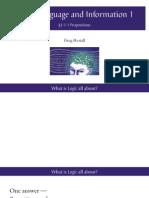 Logic1 Lecture Slides LLI1 1 1 1 Propositions