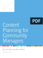 Whitepaper - Content Planning for Community Managers