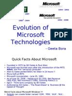 Evolution of Microsoft Technologies