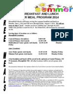 Bloomfield and Aztec summer feeding program