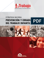 Estrategia Nacional Prevención y Erradicación Del Trabajo Infantil  (ENPETI)
