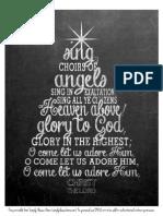 115537793 O Come All Ye Faithful Chalkboard Printable