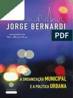 A Org Municipal e a Pol Urbana