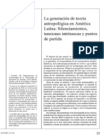 Krotz-la Generacion de Teoria Antropoligia en America Latina