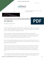 Quem São Os Consumidores Maduros Do Brasil