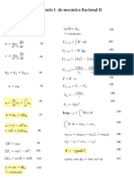 Formulario 1 de Mecánica Racional II