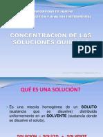 concentración soluciones químicas