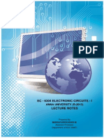 Electronic Circuits - I Lecture Notes for B.E. (ECE) (Low Resolution)