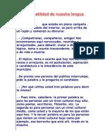 Versatilidad de La Lengua (Sinonimos-niveles de Lengua)