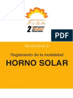 Reg Horno Solar