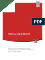 Inamovilidad laboral - Carlos González