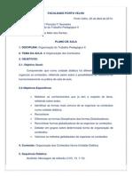 Plano de Aula Organização de Conteudos