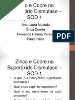 Zn e Cu Superoxido Desmutase