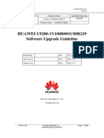 HUAWEI U9200-1V100R001C00B229 SD Card Software Upgrade Guideline