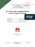 HUAWEI U9200-1V100R001C00B229 SD Card Software Upgrade Guideline