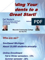 ITC 2014 Webinar - Guiding Your Online Students to a Great Start