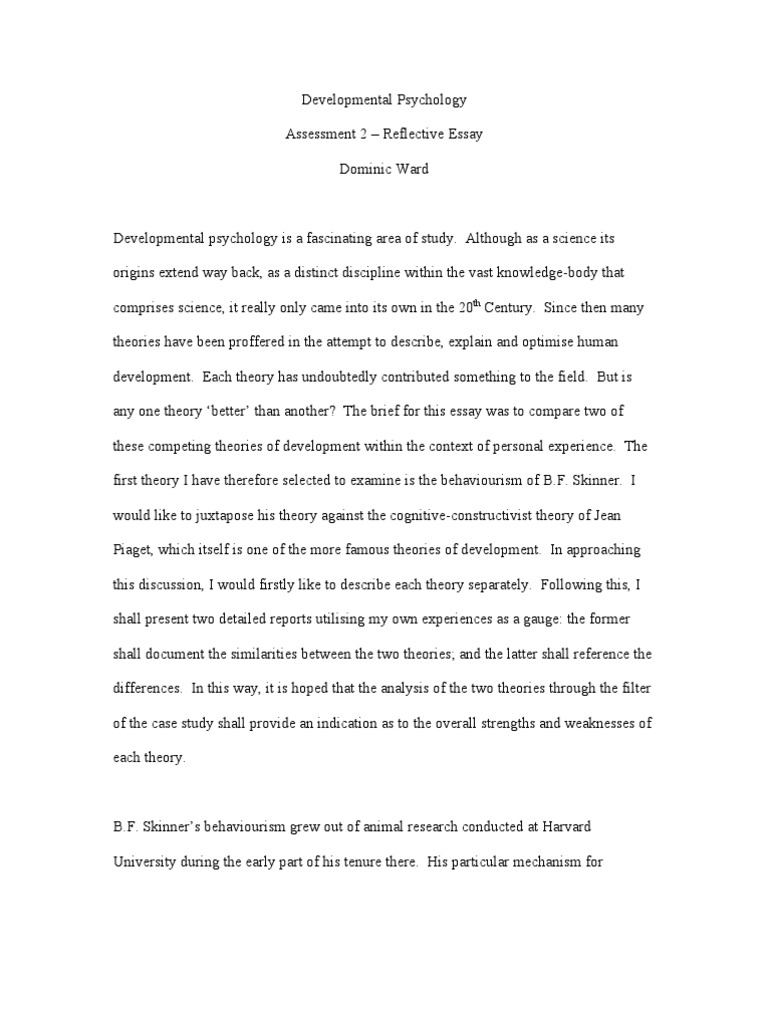 Developmental psychology essay