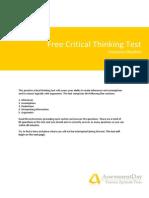 CriticalThinkingTest Questions
