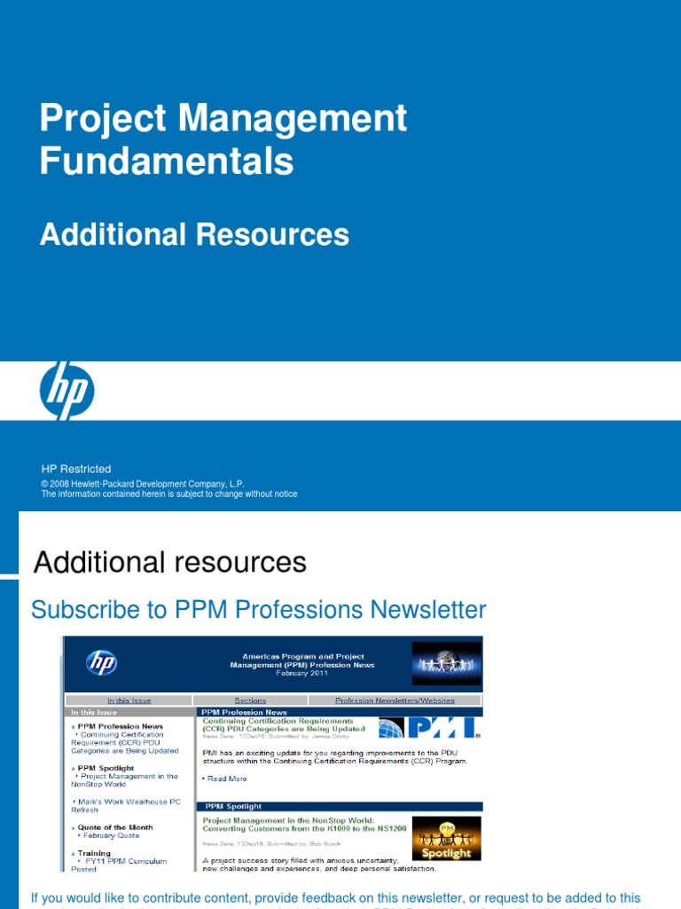 Pmf Resources Project Management You Tube