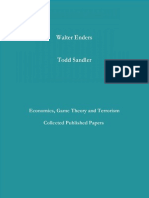 Economics, Game Theory and Terrorism (Walter Enders, Todd Sandler)