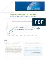 History of Fuel Economy Clean Energy Factsheet