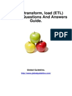 Extract, Transform, Load (ETL) Job Interview Preparation Guide