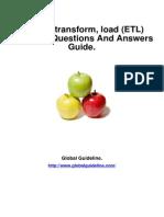 Extract, Transform, Load (ETL) Job Interview Preparation Guide