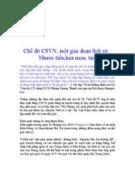 Chế độ CSVN, một giai đoạn lịch sử